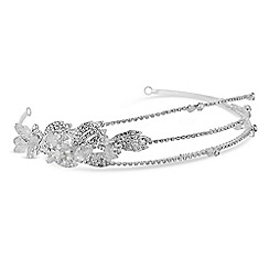 Jon Richard - Multi row diamante headband