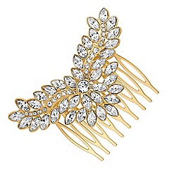 Jon Richard - Gold hair comb MADE WITH SWAROVSKI CRYSTALS