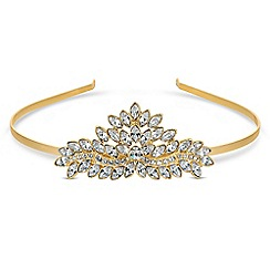 Jon Richard - Gold tiara MADE WITH SWAROVSKI CRYSTALS