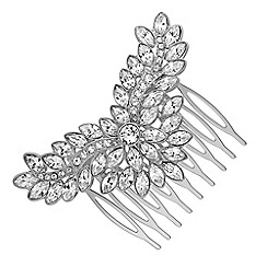 Jon Richard - Silver hair comb MADE WITH SWAROVSKI CRYSTALS
