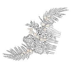 Alan Hannah Devoted - Freshwater pearl and crystal hair comb