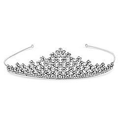Jon Richard - Silver floral crystal tiara