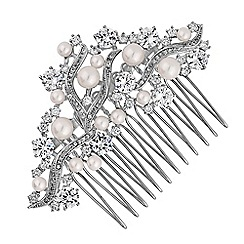 Alan Hannah Devoted - Designer pearl cluster hair comb