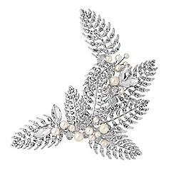 Alan Hannah Devoted - Designer silver autumn leaf hair comb