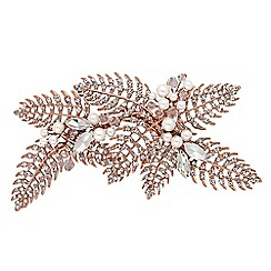 Alan Hannah Devoted - Designer rose gold autumn leaf hair comb