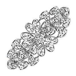 Jon Richard - Crystal heart hair clip