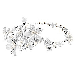 Jon Richard - Floral hair vine with crystal and pearl