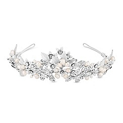 Alan Hannah Devoted - Crystal floral cluster tiara