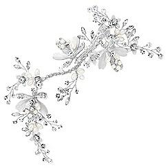 Alan Hannah Devoted - Leaf and crystal bead hair clip