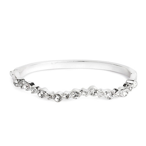 Jon Richard - Bubble wiggle crystal solid bangle