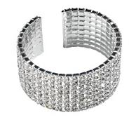 8 row diamante cuff bracelet