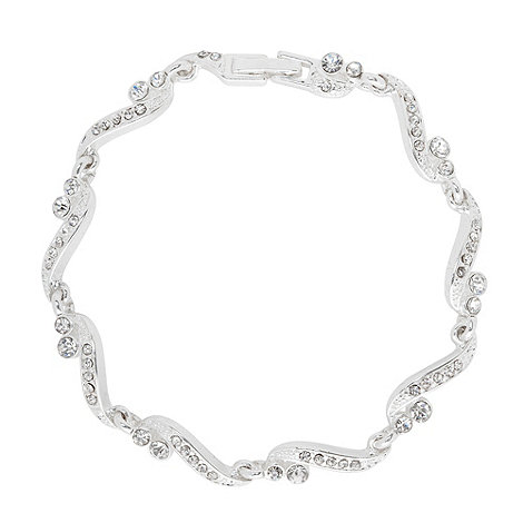 Jon Richard - Grace crystal set linked bracelet