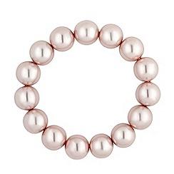 Jon Richard - Chunky pink pearl stretch bracelets