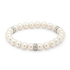 Jon Richard - Cream pearl stretch bracelet