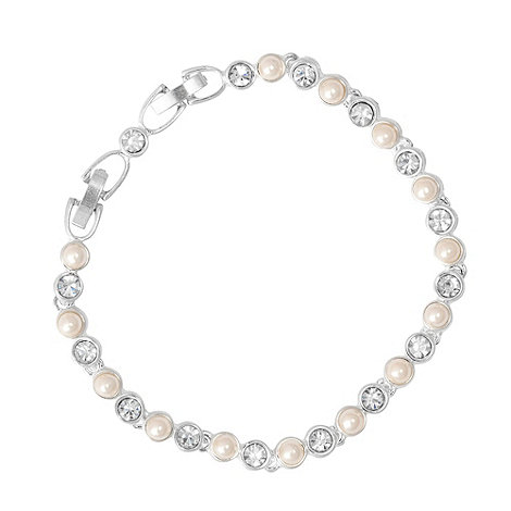 Jon Richard - Multi cream pearl and crystal round bracelet