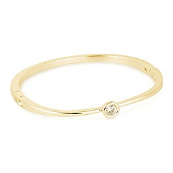 Jon Richard - Cubic zirconia solitaire stone gold bangle