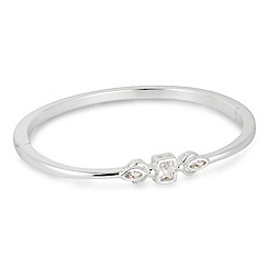 Jon Richard - Cubic zirconia mixed stone silver bangle