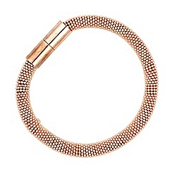 Jon Richard - Rose gold plated popcorn effect bracelet