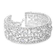 Statement diamante crystal cuff bracelet