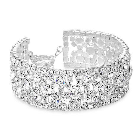 Jon Richard - Statement diamante crystal cuff bracelet