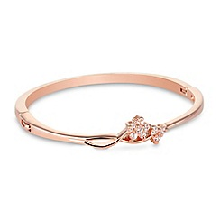 Jon Richard - Crystal flower and rose gold bangle