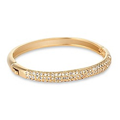 Jon Richard - Crystal embellished gold dome bangle