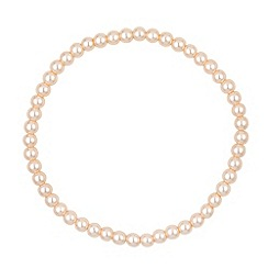 Jon Richard - Mini cream pearl stretch bracelet