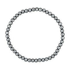 Jon Richard - Mini grey pearl stretch bracelet