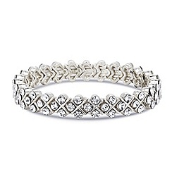 Jon Richard - Crystal crossover silver stretch bracelet