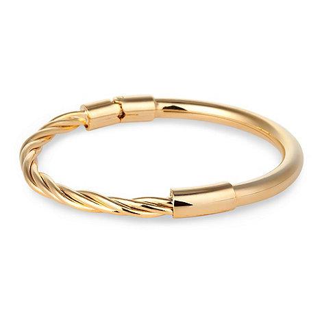 Jon Richard - Gold twist and polished hinge bangle