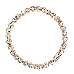 Jon Richard - Rose gold crystal stone tennis bracelet