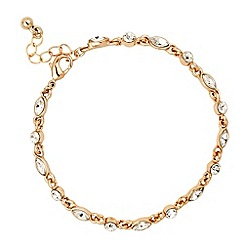 Jon Richard - Round crystal and navette stone gold bracelet