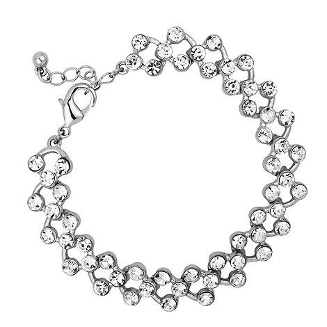 Jon Richard - Silver crystal crossover bracelet