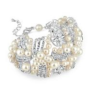 Sienna online exclusive crystal and pearl fabric wrap bracelet