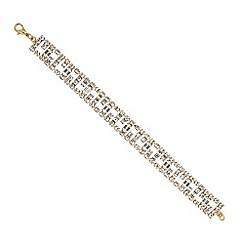 Jon Richard - Diamante and baguette stone gold bracelet