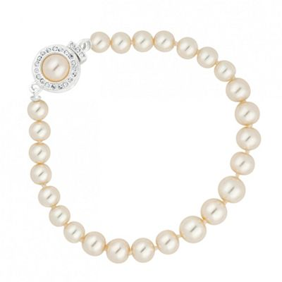 Alan Hannah Devoted Designer cream pearl and crystal clasp bracelet - . -