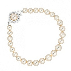 Alan Hannah Devoted - Designer cream pearl and crystal clasp bracelet