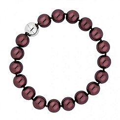 Jon Richard - Chocolate pearl magnetic bracelet
