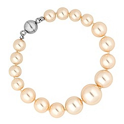 Jon Richard - Graduated cream pearl magnetic bracelet