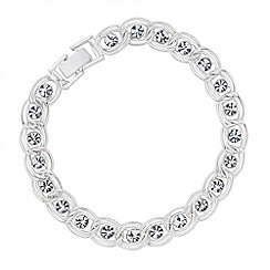 Jon Richard - Crystal stone double twist surround bracelet