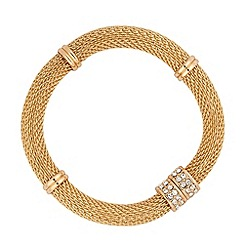 Jon Richard - Gold mesh and crystal magnetic fastening bracelet