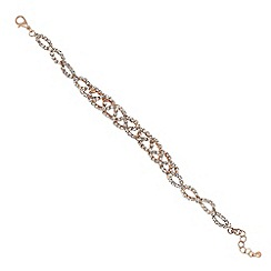 Jon Richard - Diamante twist rose gold bracelet