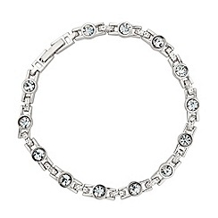 Jon Richard - Solitaire crystal and silver link bracelet