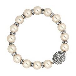 Jon Richard - Pearl and crystal rondel magnetic clasp bracelet