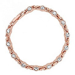 Jon Richard - Solitaire crystal and rose gold link bracelet