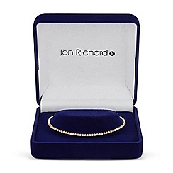 Jon Richard - Cubic zirconia encased fine gold bracelet