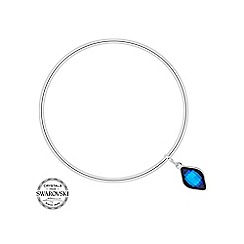 Jon Richard - Bermuda blue lemon fancy drop bangle made with SWAROVSKI ELEMENTS