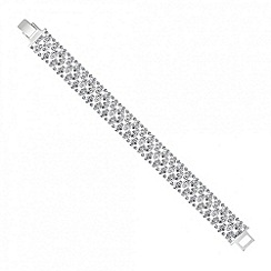 Jon Richard - Slinky diamante crystal silver bracelet