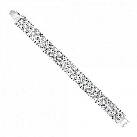 Jon Richard - Slinky diamante crystal silver bracelet
