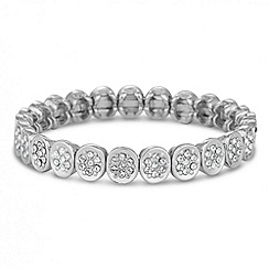 Jon Richard - Silver crystal circular stretch bracelet made with SWAROVSKI ELEMENTS